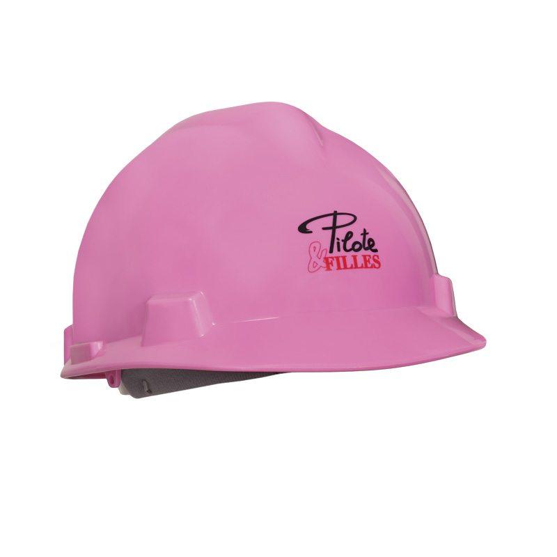 Pilote et filles | Casque de sécurité rose | Pink hard hat