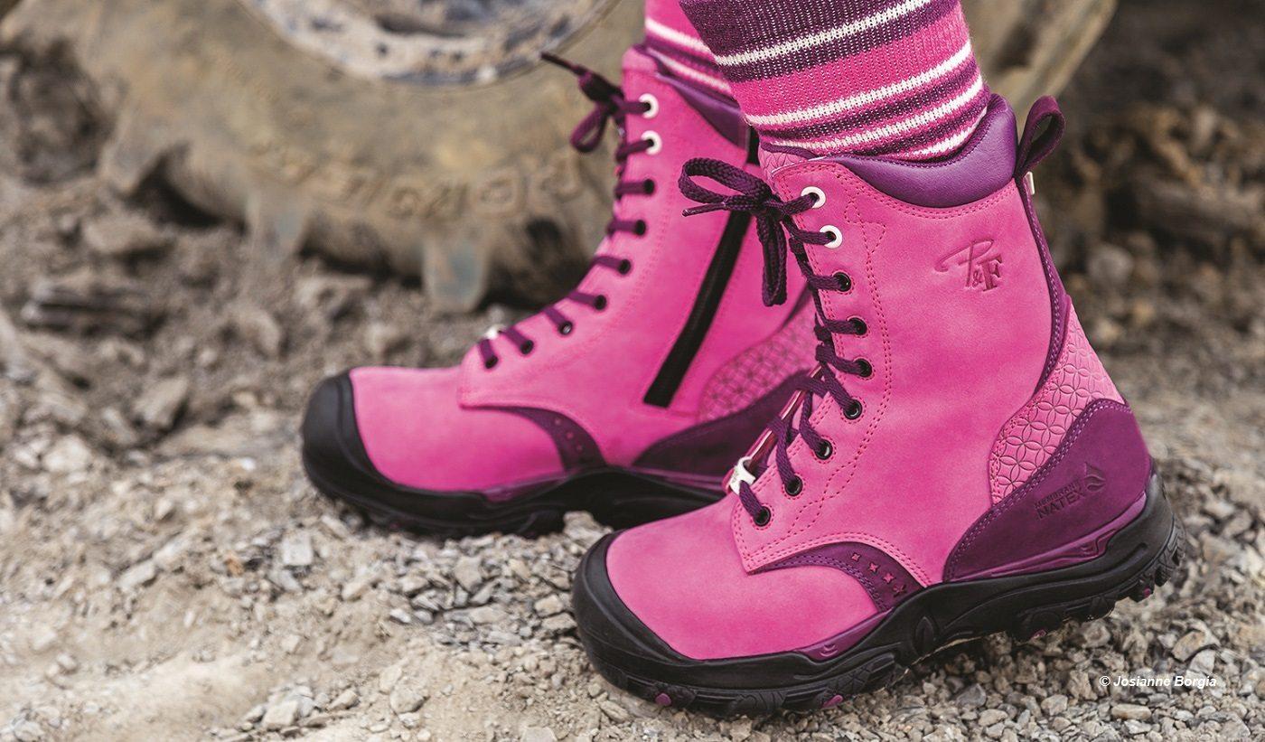 V tements chaussures et accessoires pour femme de travail pilote et filles - Botte de securite femme ...