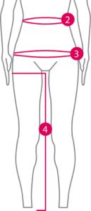 Charte de grandeurs pantalon
